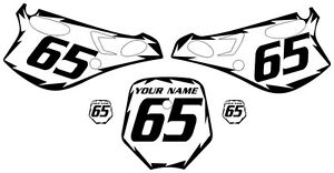 Fits KTM 65 SX 1998-2001 Pre-Printed White Backgrounds
