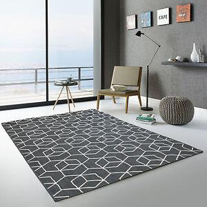 details sur tapis exterieur graphique essenza cubes 3d noir terrasse jardin cuisine bain