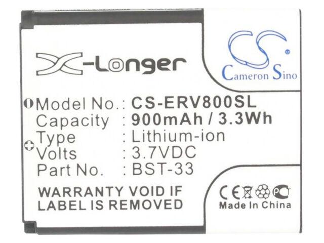 Battery for Sony Ericsson V640i W100 W100i W205 W302 W580i