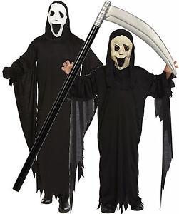 Boys Girls Mens Adult Scream Robe Mask Halloween Fancy