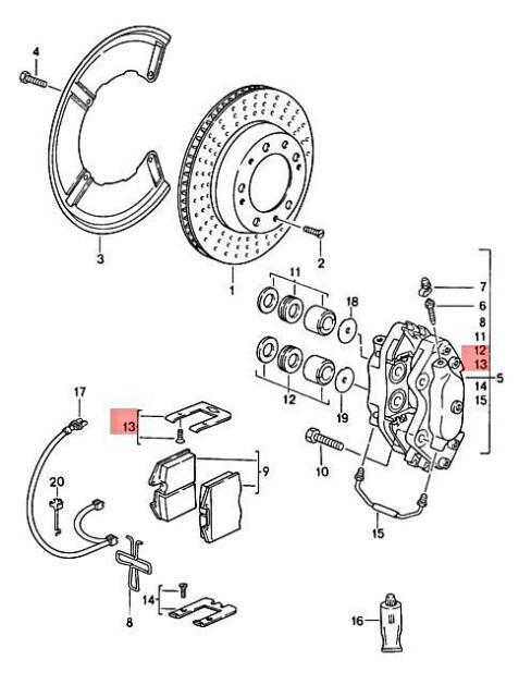 Genuine PORSCHE 911 944 959 968 Carrera Repair Set Spring