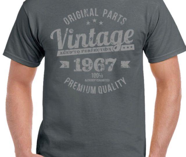 Vintage Year 1967 Premium Quality Mens Funny 51st Distressed Birthday T Shirt 51