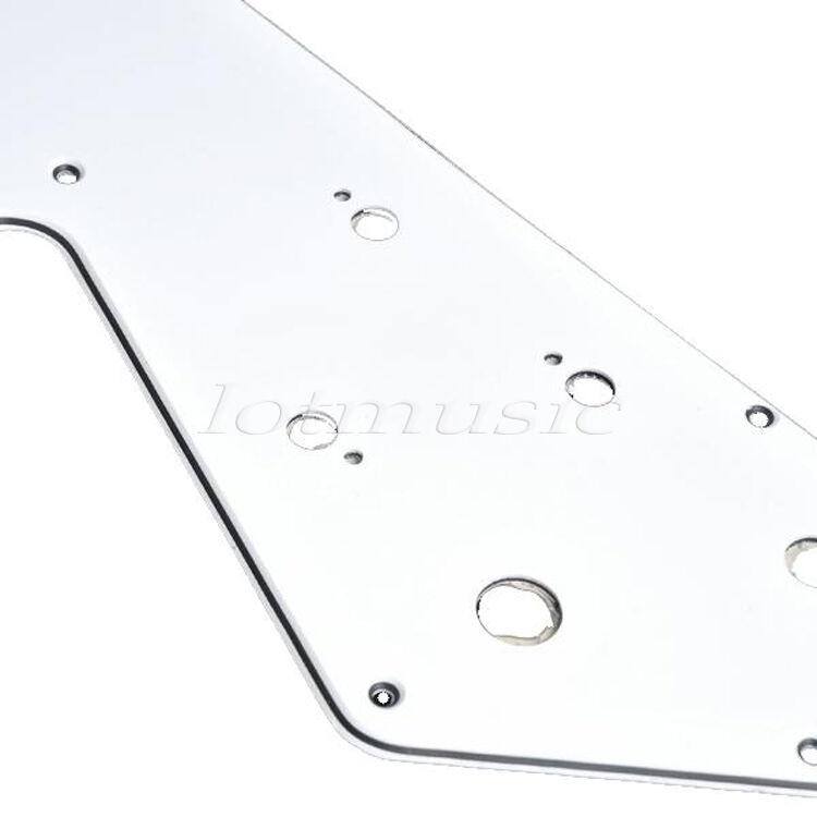 2 Pcs Electric Guitar HH Pickguard White 3 Ply Scratch