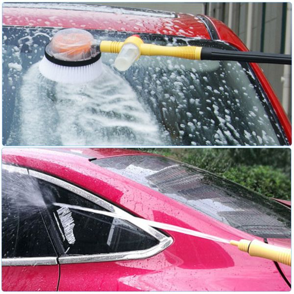 Car Pressure Washer Rotating Wash Brush Vehicle Care