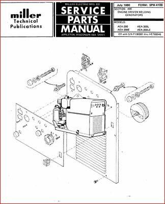 MILLERMATIC AEA-200 TECHNICAL MANUAL EFF. W/ F100081 THRU