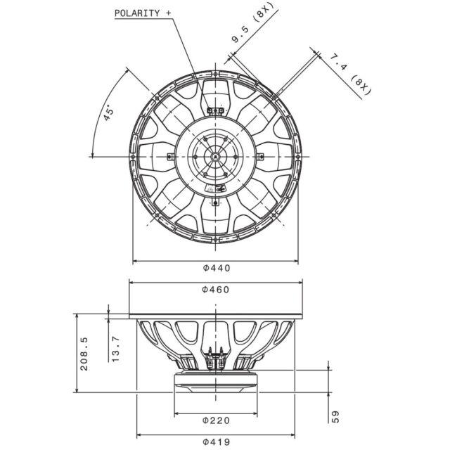 Faital Pro 18HP1030 4ohm 18