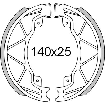 Pair rear brake pads aprilia mojito 125 2003 2004 2005