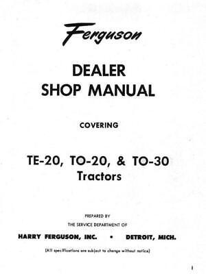 Massey Ferguson TE20 to TE30 all models dealers service