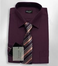 Boys Formal Plum Boy Shirt And Tie Set Wedding Prom Party ...