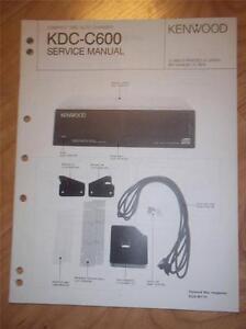 Kenwood Service Manual Kdc C600 Cd Changer Player Car