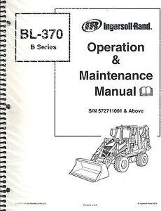 BOBCAT BL-370 B-SERIES SKID STEER LOADER OPERATION