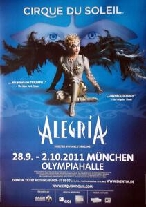 details zu cirque du soleil 2011 plakat zirkus magie alegria poster munchen