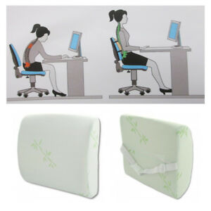 back pillow for office chair covers with sashes rent lower support lumbar cushion pain relief rest car image is loading