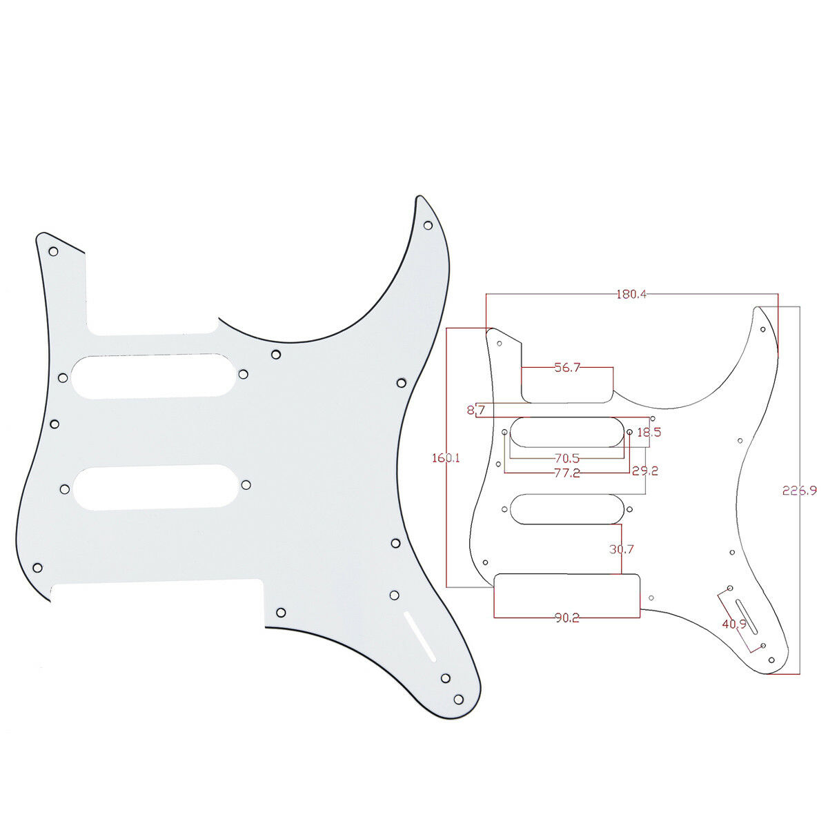 yamaha pacifica 112v wiring diagram 2 lights 1 switch white guitar pickguard for
