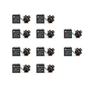 10PCS Car DC 12V Volt 30/40A SPDT Automotive 5 Pin 5 Wire