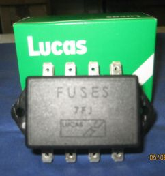 mg mgb mgc roadster or gt lucas 4 fuse fuse box and lid 37h 4727 f2a bive for sale [ 1600 x 1200 Pixel ]