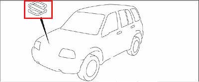 2006-2008 SUZUKI GRAND VITARA CHROME S EMBLEM FRONT GRILLE