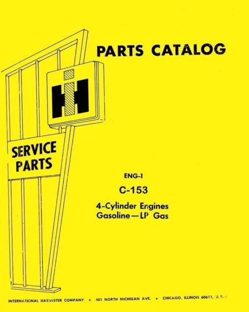international farmall 424 444 504 544 2444 c-153 c153 gas engine - ih 424