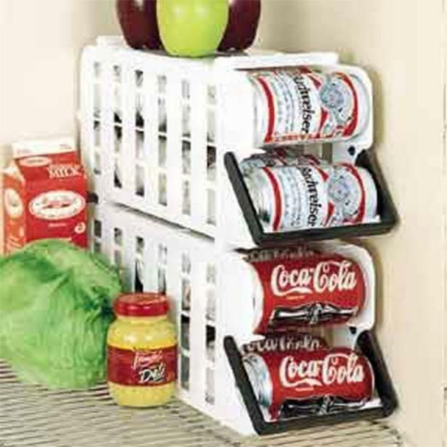 Can Food Storage Kitchen Canned Goods Rack Holder Shelf Pantry Cabinet Organizer 2