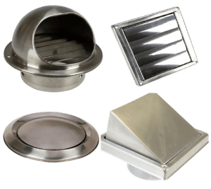 details about stainless steel wall air vent metal cover outlet exhaust grille 100 125 150mm