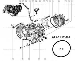 Renault Megane Scenic Laguna Clio gearbox top casing O