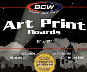 300 New 11X17 Resealable Bags and Boards Photo BCW Art Print