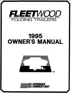 COLEMAN Popup Trailer Owners Manual-1995 Four Seasons Utah