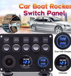 details about 12v 24v inline fuse box led rocker switch panel 2 usb charger socket boat marine [ 1000 x 1000 Pixel ]