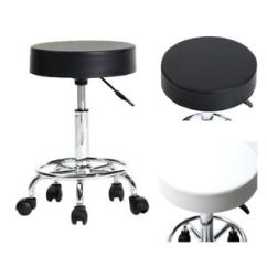 Stool Chair On Wheels Folding For Camping Adjustable Swivel Round Bar Style Soft Details About Rotation
