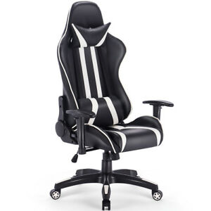 reclining gaming chair thomas the train canada racing high back office desk task image is loading
