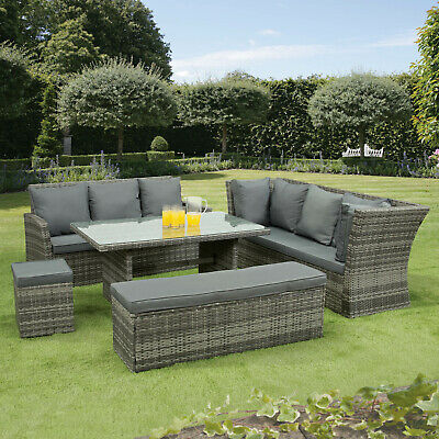 nevada 10 seat rattan wicker luxury corner sofa set chair garden patio furniture ebay
