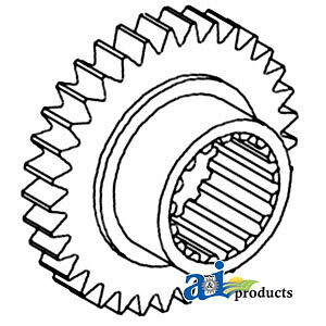 A-1617923M3 Massey Ferguson Parts GEAR TRANS. COUNTERSHAFT