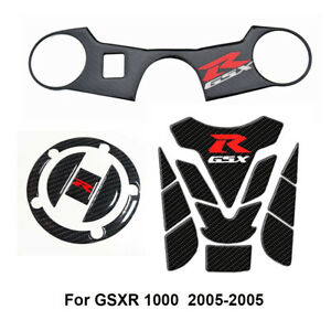Fuel Tank Cap Pad Fron Clamping Carbon Sticker For Suzuki