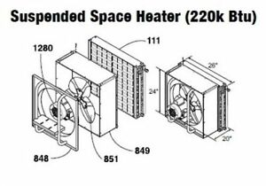Central Boiler (COMPLETE) Suspended/Hanging Space Heater