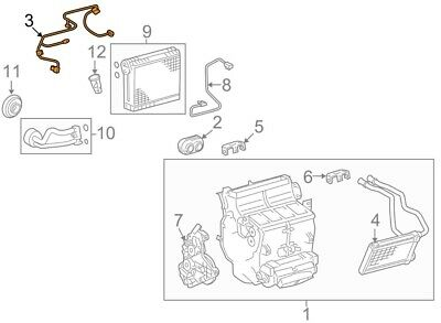 For Toyota Genuine HVAC System Wiring Harness 822100C040
