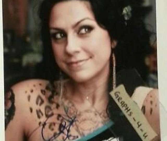 Image Is Loading Danielle Colby Cushman Signed Dannie Diesel Autograph Pickers
