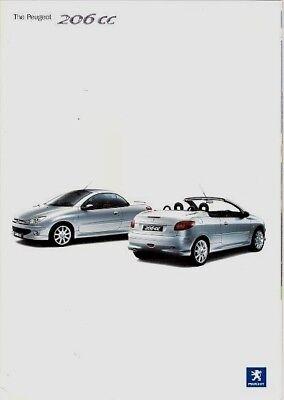 Peugeot 206 CC Coupe Cabriolet 2003-04 UK Market Sales