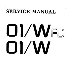 KORG 01/w, 01/wfd Schematic Diagram Service Manual