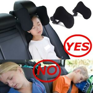 details about car seat headrest neck pillow leather head support travel side cushion for kids