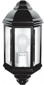 Mezza lanterna per esterno da parete marrone spazzolato in alluminio philips curassow 1738543pn, attacco per la lampadina e27 (grande), grado di protezione. Led Lampada Tradizionale Da Giardino Esterno Luce A Muro Mezza Lanterna Raccordo Ip44 Ebay