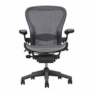 herman miller chair sizes ergonomic how to sit aeron open box size b fully loaded hardwood image is loading