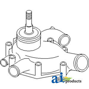A-37711000P-R Massey Ferguson Parts WATER PUMP W/O PULLEY