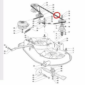Mountfield deck drive belt fits 1538H 1538M 1438M T38M