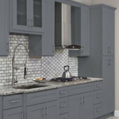 Grey Kitchen Cabinets For Sale Swinging Door 10x10 All Wood Colonial Gray Fully Upgraded Group Image Is Loading