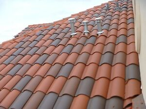 details about s type clay roof tile roofing spanish mediterranean rustic look terracotta red