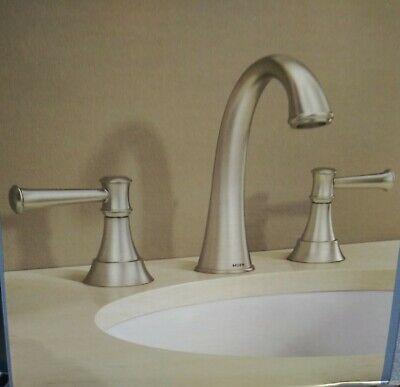 moen gilmour brushed nickel two handle 8 widspread bathroom faucet 84756srn ebay
