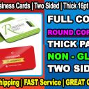 1,000 ROUND CORNERS Business Cards Full Color + Two Sides + FREE SHIP = MATTE