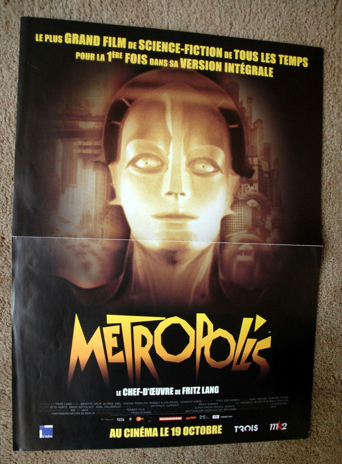 Les Plus Grands Films De Tous Les Temps : grands, films, temps, Vintage, Original, METROPOLIS, Movie, Poster, Silent, Hollywood