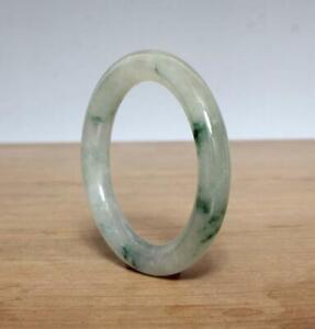 Fine Chinese Natural Green Jadeite Jade Bangle Bracelet 60MM