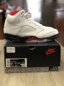 Are Jordan 5 True To Size : jordan, Jordan, Retro, Shoes, White/Fire, Red-Black, DA1911-102